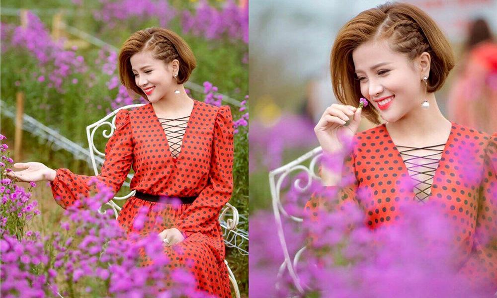 Á hậu Nguyễn Vân Anh đẹp tựa nàng thơ trong dáng hoa lụa là