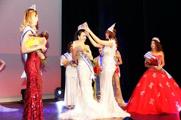 Cựu hoa hậu  Michelle Huynh  bất ngờ huấn luyện catwalk cho thí sinh Hoa hậu Miss World- America  2018.