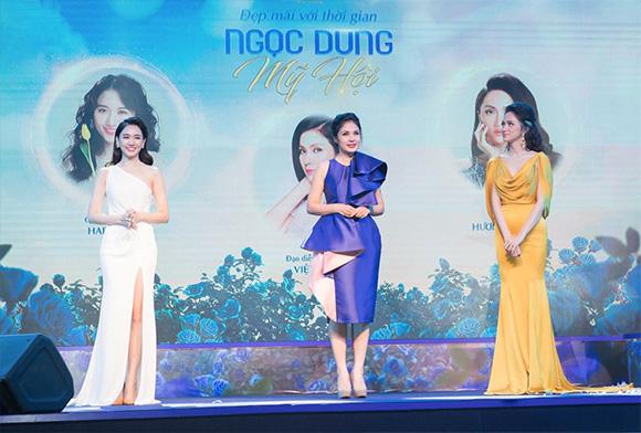 """Việt Trinh, Hari Won và Hương Giang đọ sắc tại sự kiện """"Ngọc Dung mỹ hội"""""""