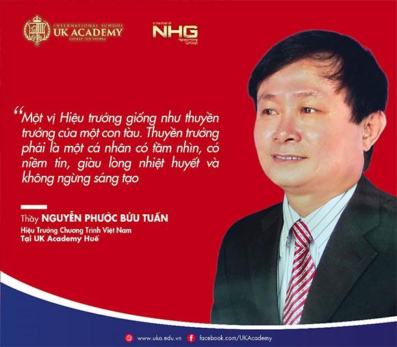 Thầy Nguyễn Phước Bửu Tuấn chính thức thành Hiệu trưởng UK Academy Huế