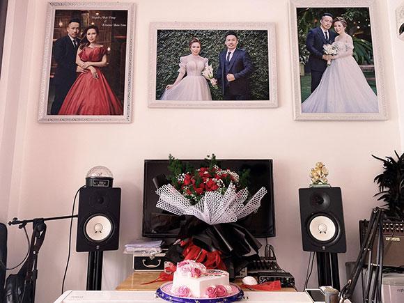 Bất ngờ với không gian sống trưng bày ảnh cưới đẹp của Nhạc sĩ Huỳnh Nhật Đông và hoa hậu Kristine Thảo Lâm