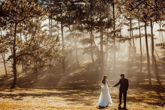 Nên chụp ảnh cưới ngoài trời hay ở studio?