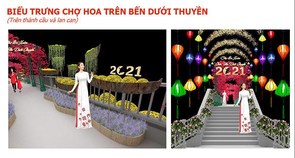 """TP.HCM: Rực rỡ Chợ Hoa Xuân """"Trên bến dưới thuyền"""""""
